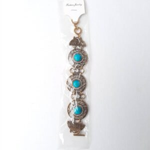 Women's Bangle with Beautiful Blue Beads