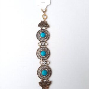 Women's Bangle with Beautiful Blue Beads
