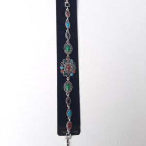 Women's Bangle with Multi Colored Stones