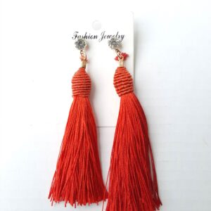 Colored Long Thread Women's Earrings