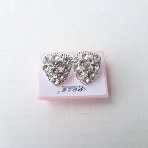 Silver Diamond Imitation Earrings