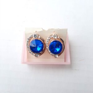 Fancy Earrings With Beautiful Blue Stone