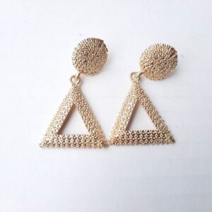 Triangle Silver & Golden Women?s Earrings