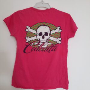 Pink Girl's T-shirt with Skull Design (Medium)