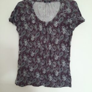 Purple Floral Lady's Tshirt (Extra Large)