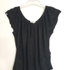 Low Neck Lady's Black T-shirt (Medium)