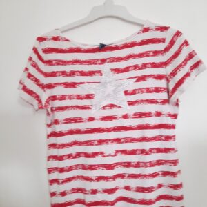 Fancy Red Striped T-shirt with Star