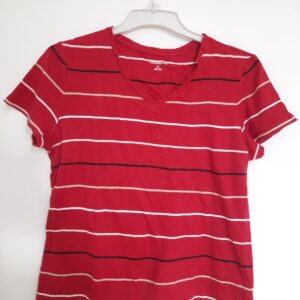 Striped Lady's Red T-shirt (Medium)