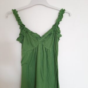 Green Floral Strap Top (Small)