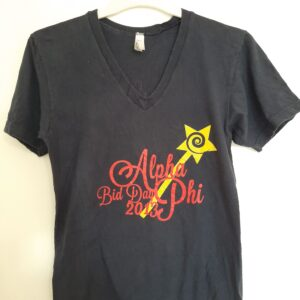 Blue T-shirt with Designed Front (Small)