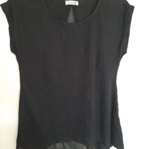 Black Sleeveless Lady's T-shirt (Medium)