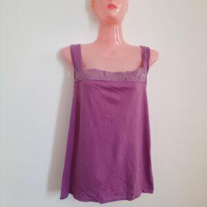 Purple Strap Top & Stylish Yellow T-shirt (Extra Large)