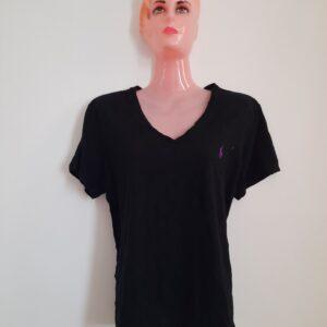 Black V-Neck Polo T-shirt (Large)