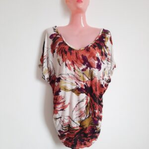Beautiful Floral Patterned T-shirt for Women (Small)