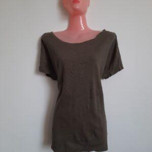 Modern Faint Green Color Women's T-shirt (Medium)