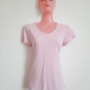 Light Pink V-Neck Lady's T-shirt (Medium)