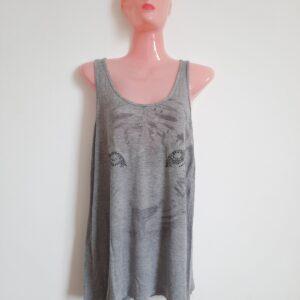 Unique Designed Gray Lady's T-shirt (Large)