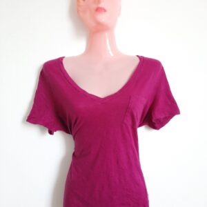 Beautiful Bright Purple V-Neck Girl's T-shirt (Medium)