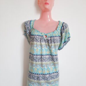 Beautiful Lady's Dress Top with Colorful Pattern Design (Extra Large)