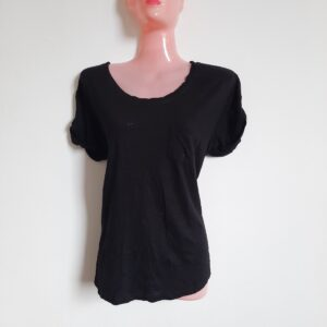 Modern Black High Low with a Pocket (Large)