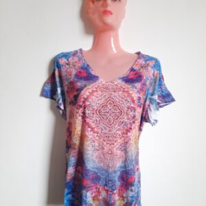 Beautiful Patterned Colorful Woman's T-shirt (Large)