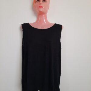 Black Sleeveless Top Lady's Top with Cross Back Design (Medium)