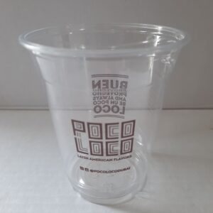 Large Stylish Transparent Disposable Cups