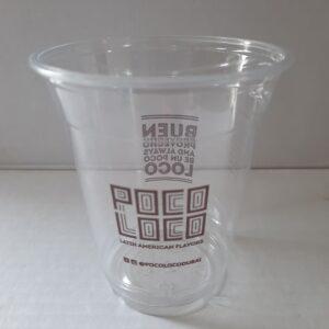 Large Stylish Transparent Disposable Cups