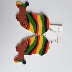 African Colorful Ear Rings