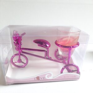 Bicycle Glass Candle